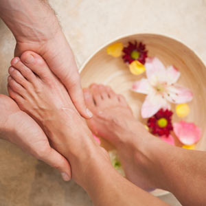 Soaking Foot Pedicure